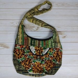 Handbags - Embroidered Traditional Textile Crossbody Bag
